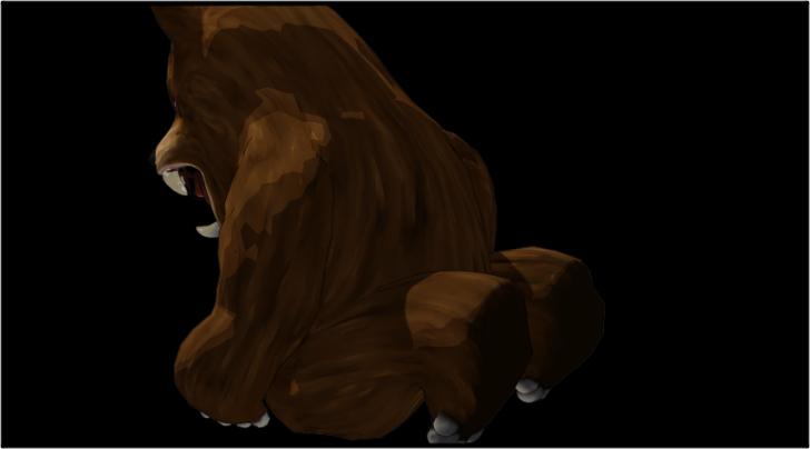 落ち込む熊の着ぐるみを着たおじさん