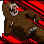 スライディングが出にくい熊の着ぐるみを着たおじさん