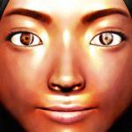 女の顔のアップ