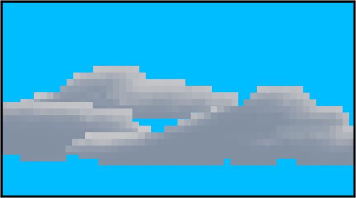 ドット絵調の雲