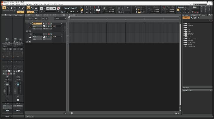 bandlabの画面
