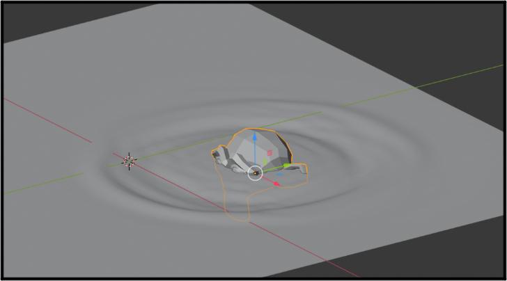 アニメーションを再生してモンキーを動かしている画面